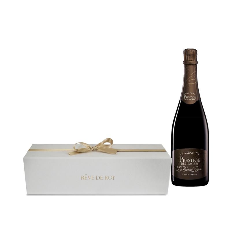 Coffret Prestige Champagne La Cuvée Boisée Bouteille