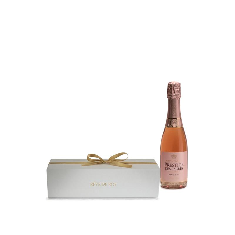 Coffret Prestige Champagne Brut Rosé Demie