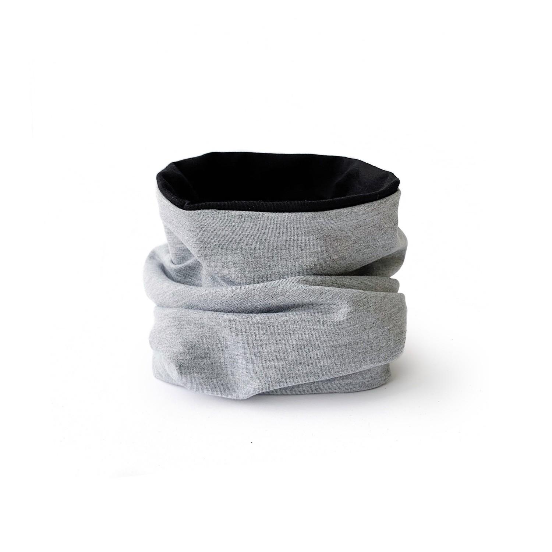 Снуд (серый меланж/черный)