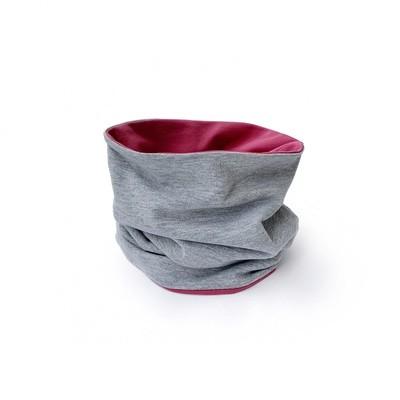 Снуд (розовый/серый меланж)