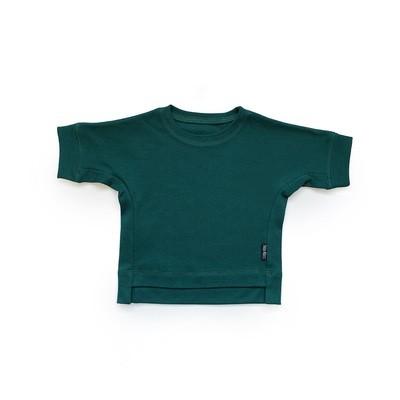 Базовая футболка оверсайз (темно-зеленый)