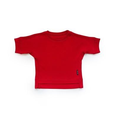 Базовая футболка оверсайз (темно-красный)