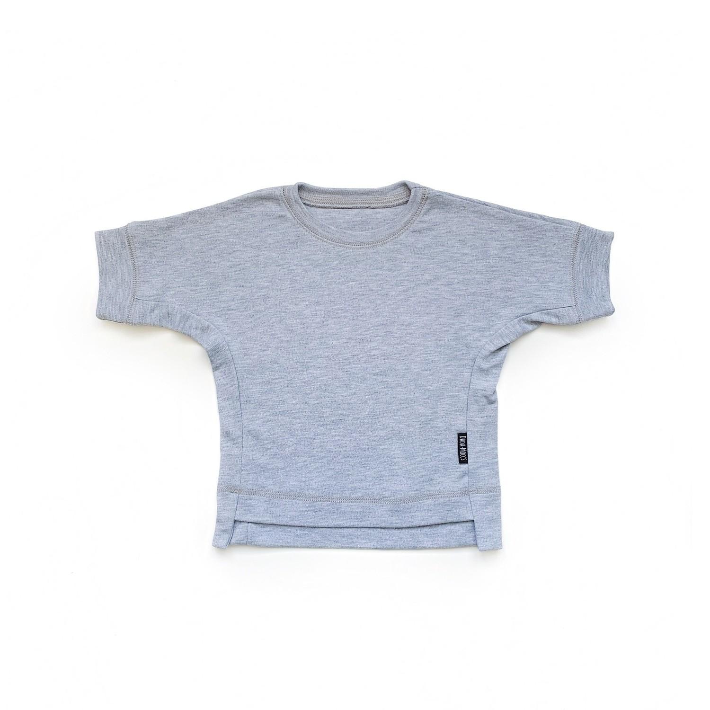 Базовая футболка оверсайз (серый меланж)