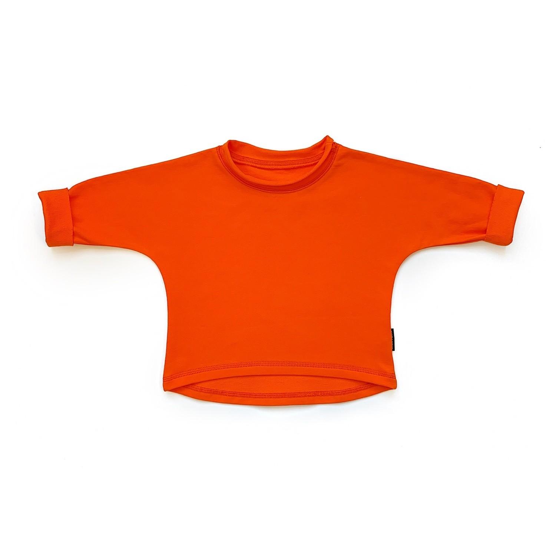 Базовая толстовка оверсайз (оранжевый)