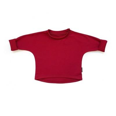 Базовая толстовка оверсайз (бордовый)
