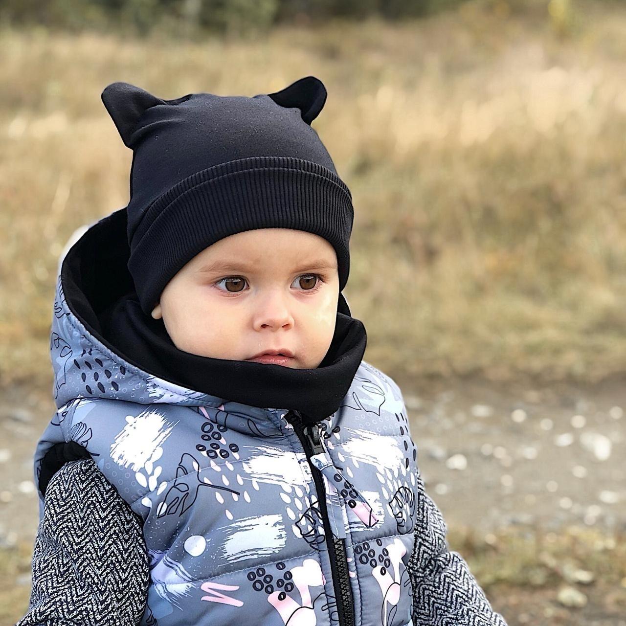 Комплект шапочка ZOO, жилет и снуд
