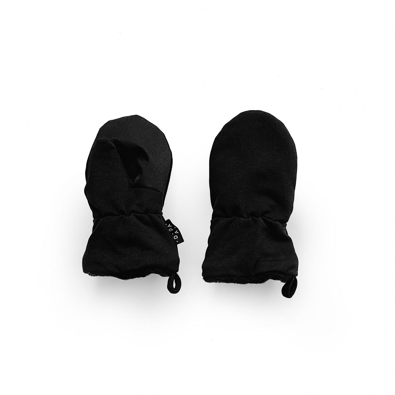 Утеплённые варежки (черный)