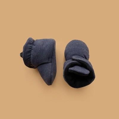 Базовые Soft Booties (серо-синий меланж)