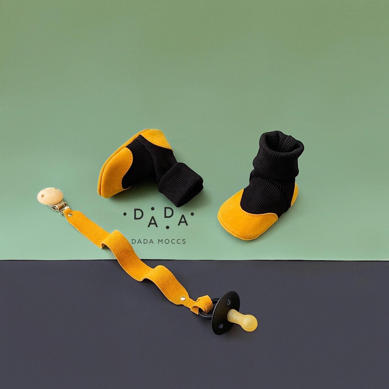 Комплект Dada Socks и держатель для пустышки или прорезывателя