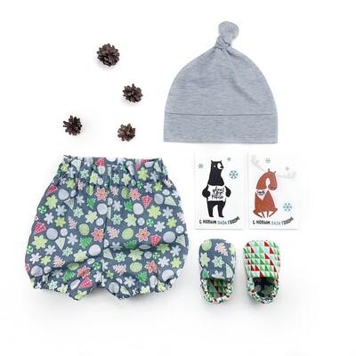 Комплект блумеры, шапочка и моксы