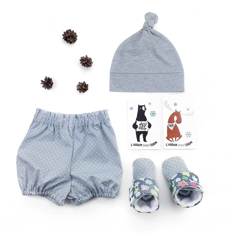 Комплект блумеры, шапочка и угги