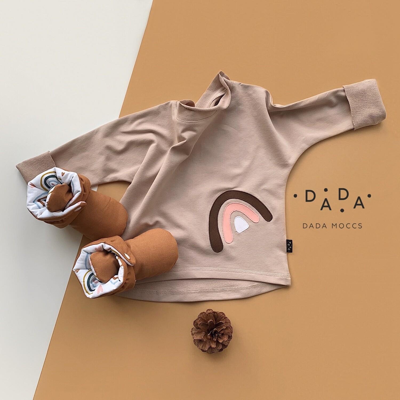Комплект базовый свитшот оверсайз с аппликацией и Dada Booties