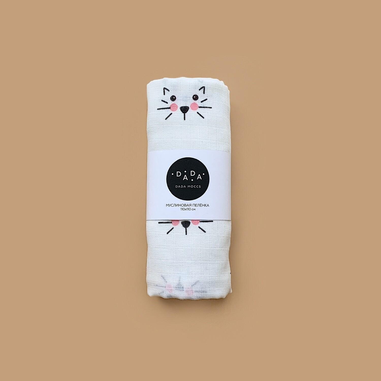 Муслиновая пеленка Cat (ivory)