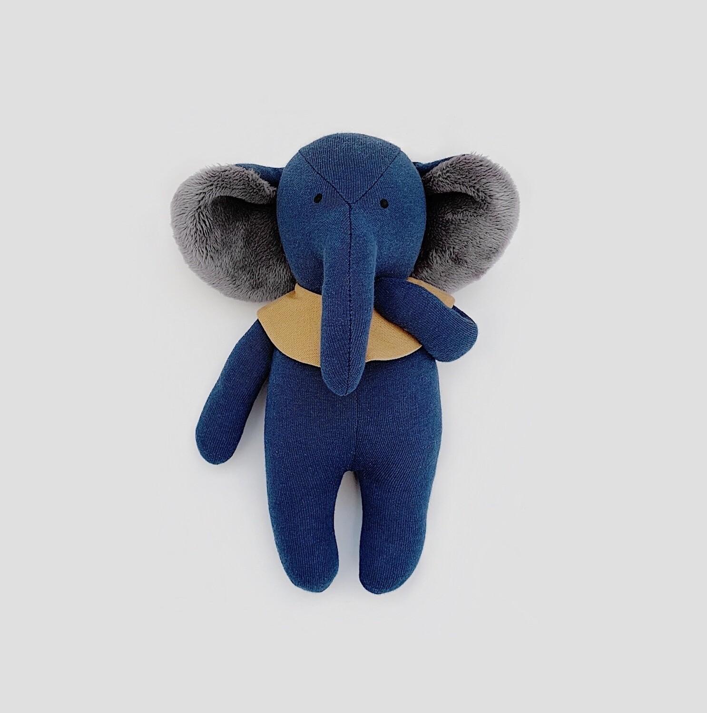 Темно-синий слоник с серыми ушками