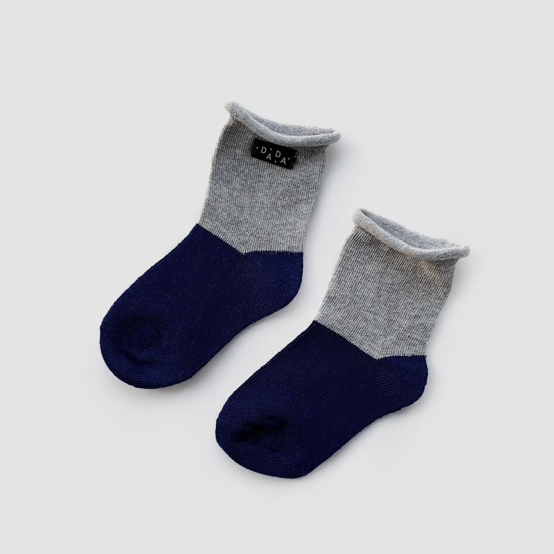 Носки двухцветные Deep Space+Gray (темно синий+серый)