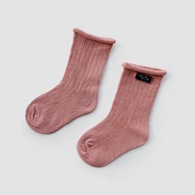 Носки в рубчик Blush (пудровый)