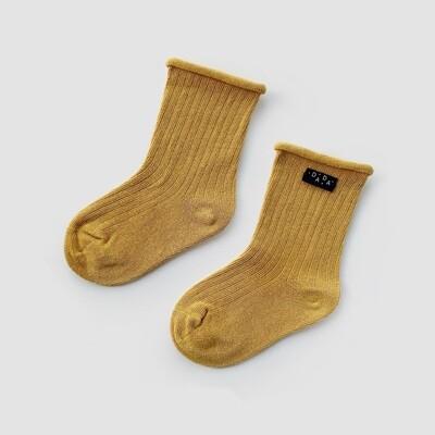 Носки в рубчик Mustard (горчица)