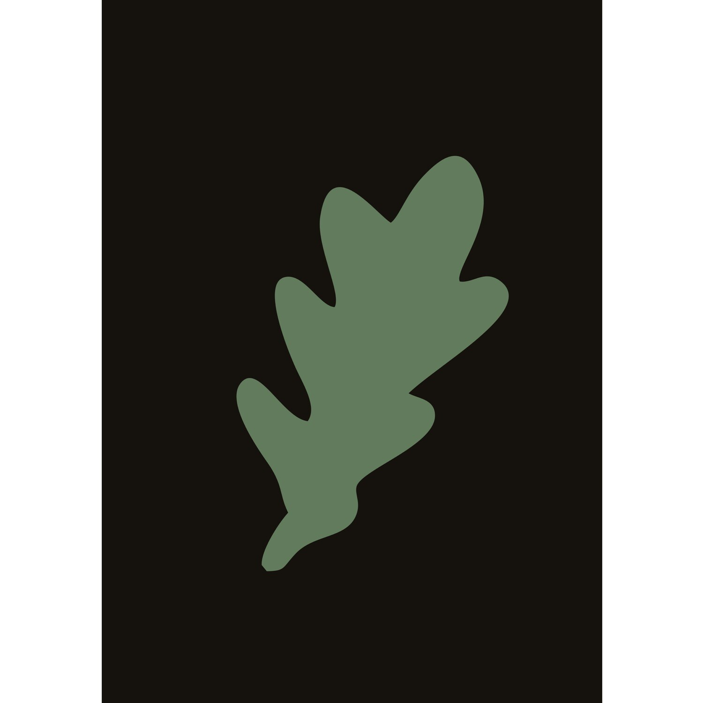 Лист дуба (на темном) (файл для самостоятельного распечатывания)