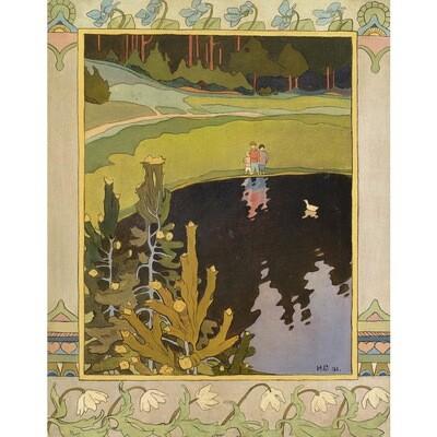 """""""Дети и белая уточка"""", И. Билибин, 1901 год (файл для самостоятельного распечатывания)"""
