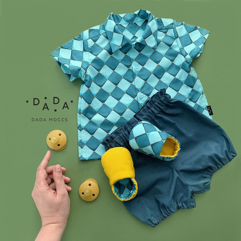 Комплект рубашка, моксы и блумеры