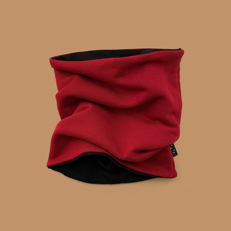 Снуд (бордовый/чёрный)