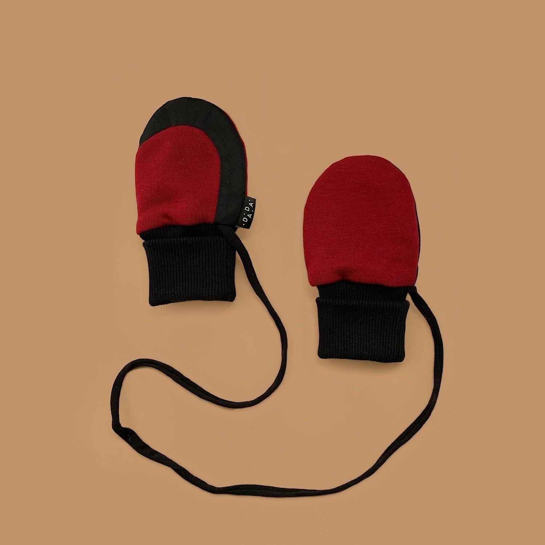 Легкие варежки (бордовый)
