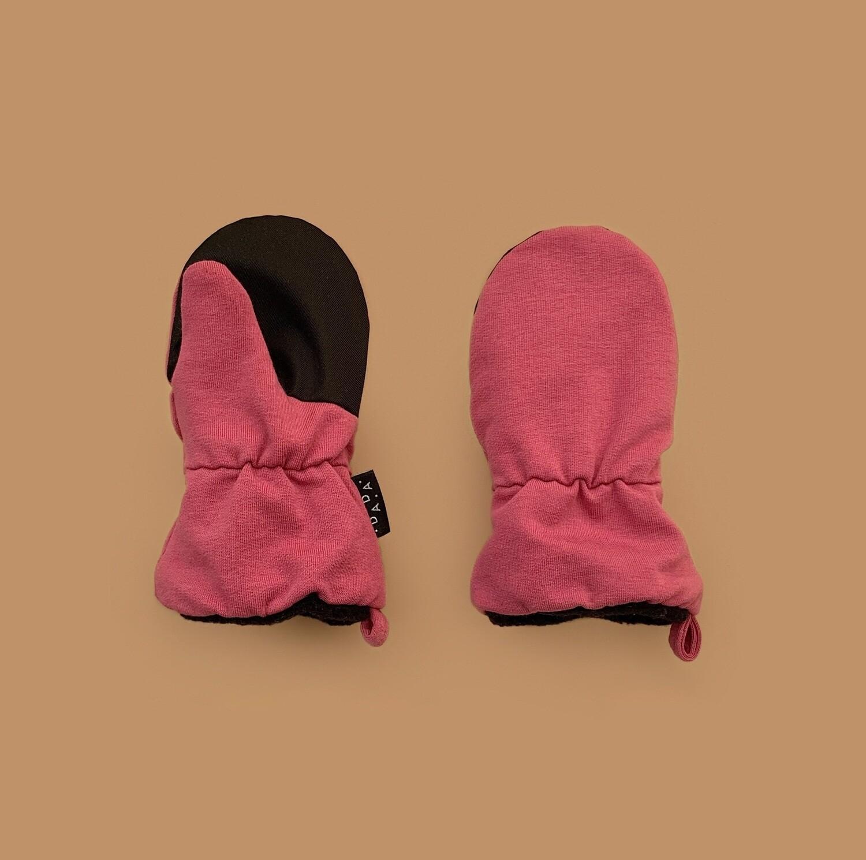 Утеплённые варежки (розовый)