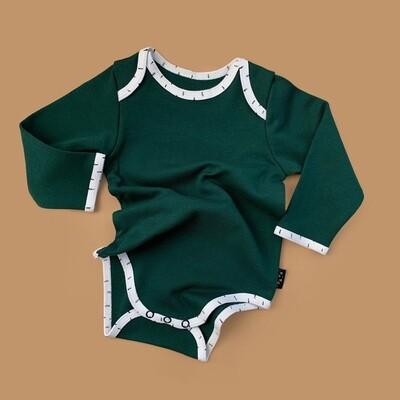 Боди Bamby (темно-зелёный с кантом bamby)