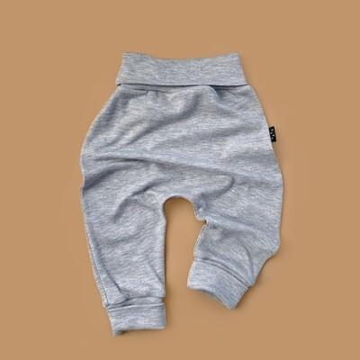 Легкие трикотажные брюки (серый меланж)