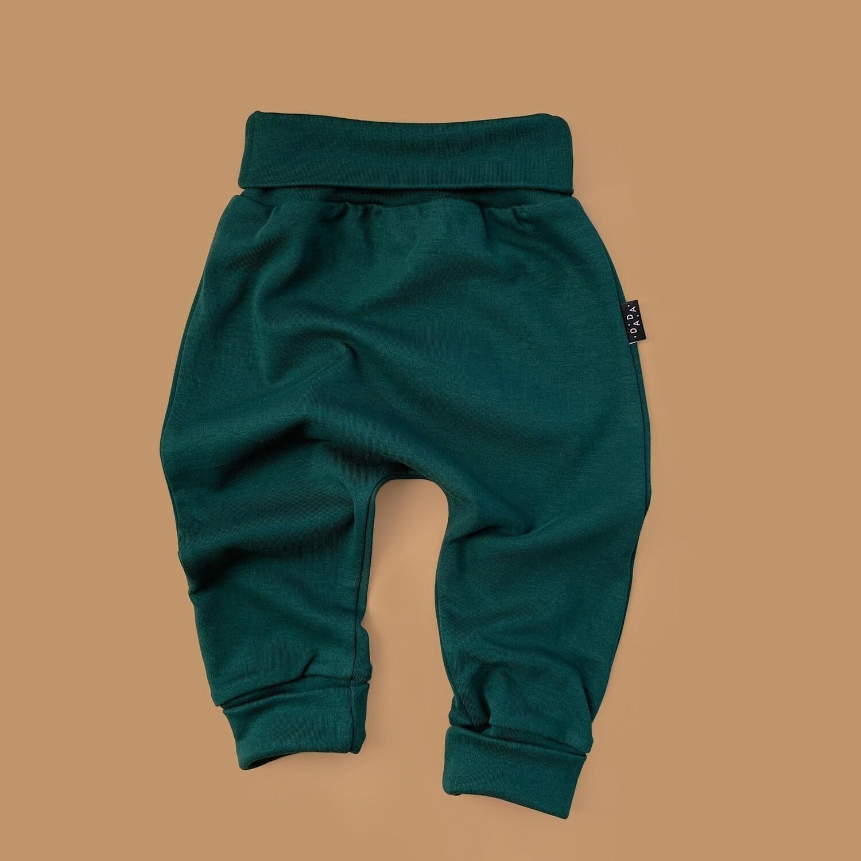 Легкие трикотажные брюки (темно-зеленый)