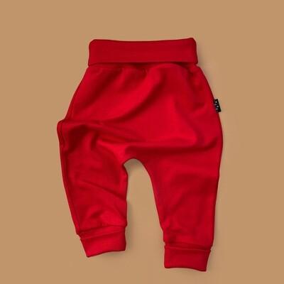 Легкие трикотажные брюки (темно-красный)