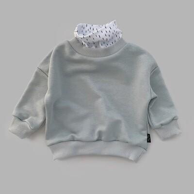 Свитшот оверсайз (ultimate gray с воротом Bamby)
