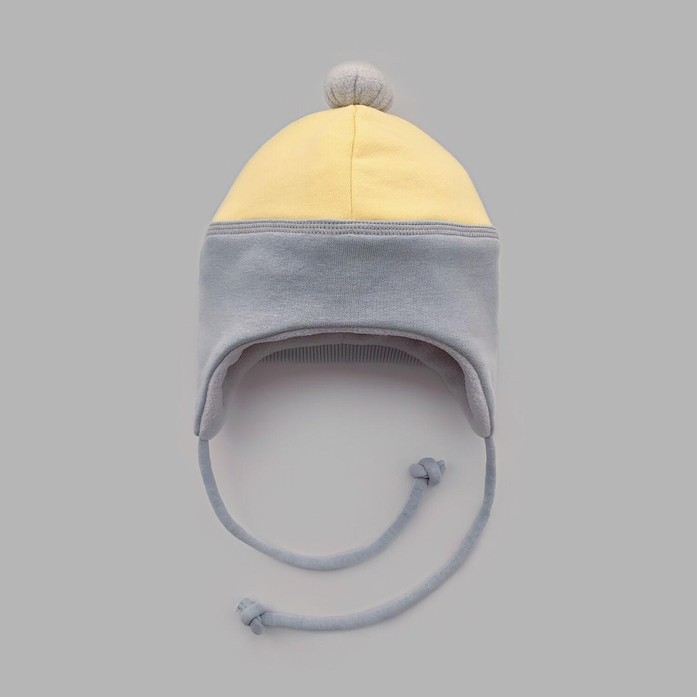 Мультисезонная шапка с помпоном (illuminating + ultimate gray down)