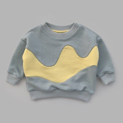 Свитшот WAVE (ultimate gray + illuminating wave)