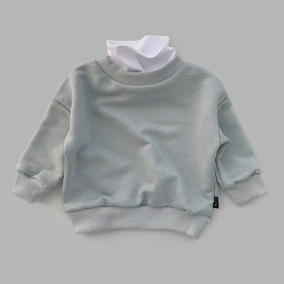 Свитшот оверсайз (ultimate gray с белым воротом)
