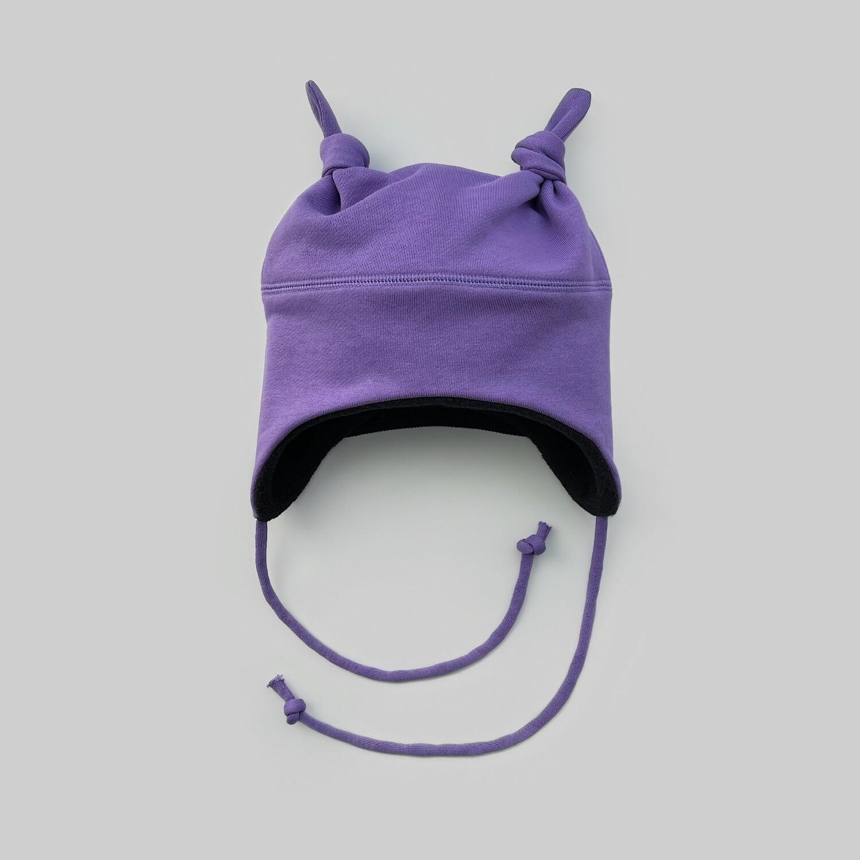 Шапка с двумя узелками (фиолетовый)