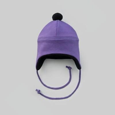 Шапка с помпоном (фиолетовый)