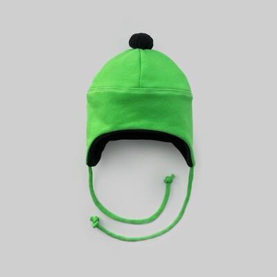 Шапка с помпоном (зелёный киви)