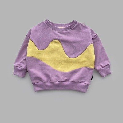Свитшот WAVE (lavender + illuminating wave)