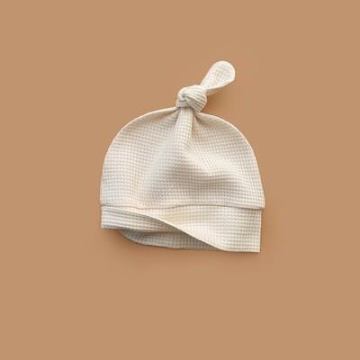 Лёгкая вафельная шапочка (морская ракушка)