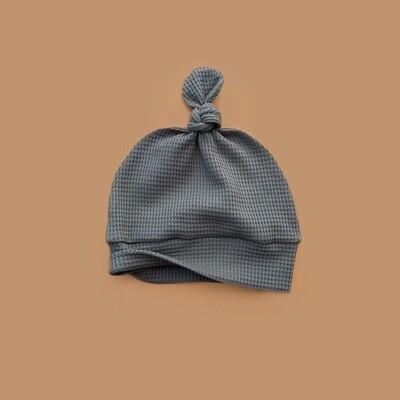 Лёгкая вафельная шапочка (серо-зелёный)