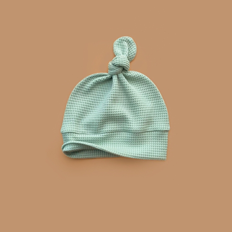 Лёгкая вафельная шапочка (ледяная мята)