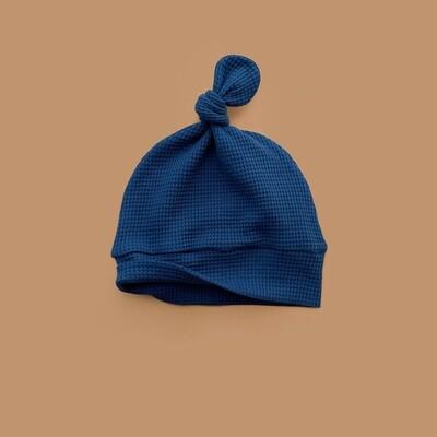 Лёгкая вафельная шапочка (глубокий синий)
