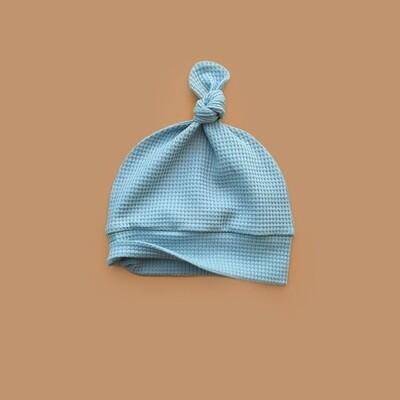 Лёгкая вафельная шапочка (голубая дымка)