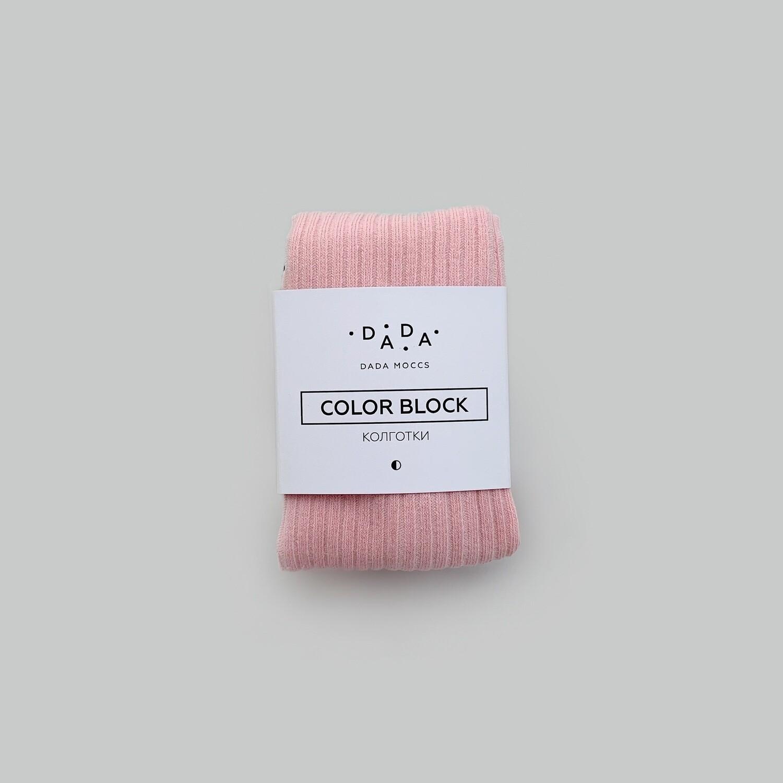 Колготки в рубчик в стиле COLOR•BLOCK