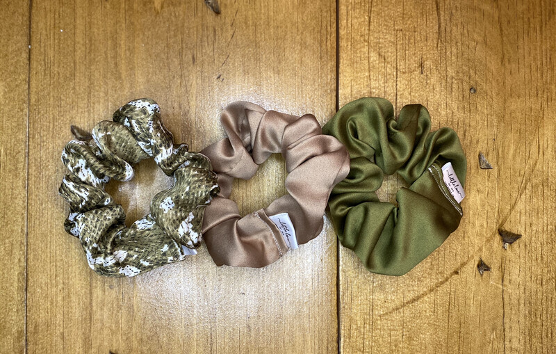 FALL SATIN SCRUNCHIE TRIO