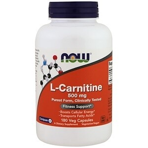 L-Carnitine 500 mg 180 veg caps