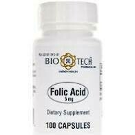 Folic Acid 5mg 100 caps Biotech