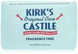 Kirk's Original Coco Castile Fragrance Free (170273-7)