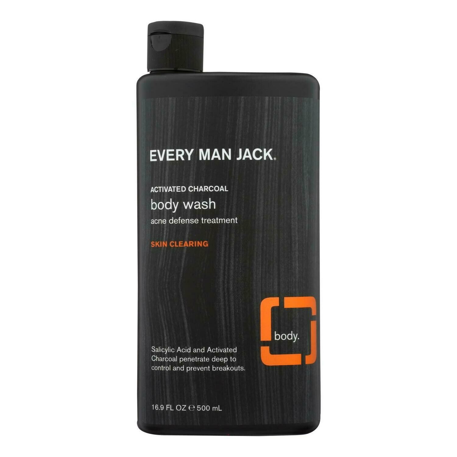 Every Man Jack Body Wash Activated Charcoal Body Wash | Skin Clearing - 16.9 oz(EO 2288439)